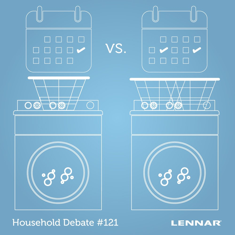 Is laundry necessary only once a week or twice a week in your home? #HouseholdDebate #Chores #LaundryDay #Cleaning http://spr.ly/601716d57