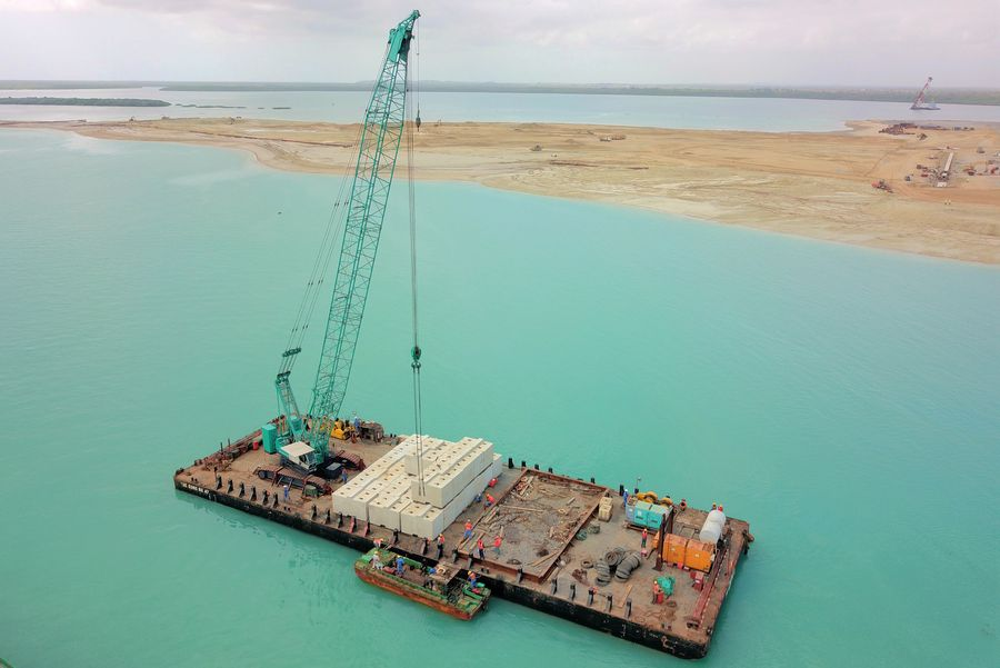The Chinese-built Lamu port, the second commercial seaport for Kenya, is expected to be launched in November http://xhne.ws/rTQEu