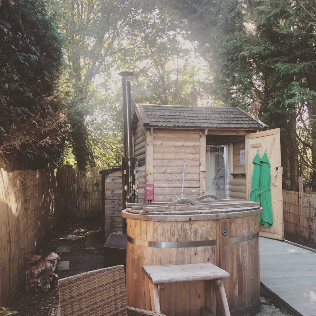 Nestled in your private tree lined garden, a little piece of tranquility awaits for a unique getaway #retreat #woodfiredhottub #tranquility #bedandbreakfast