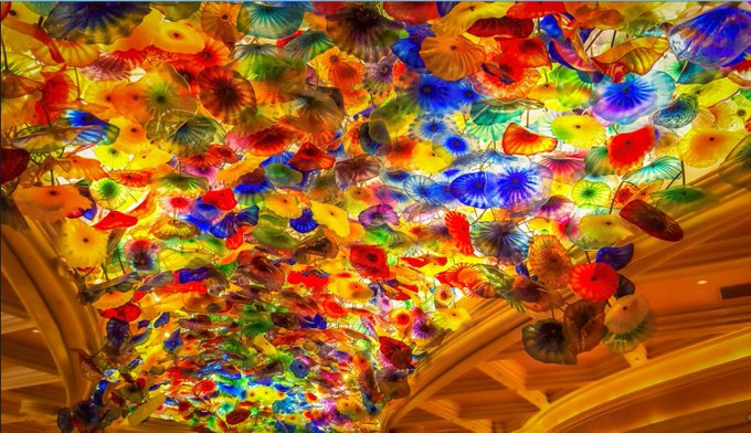 Chihuly s art blossoms at Bellagio Happy Birthday Dale Chihuly, B. 1941