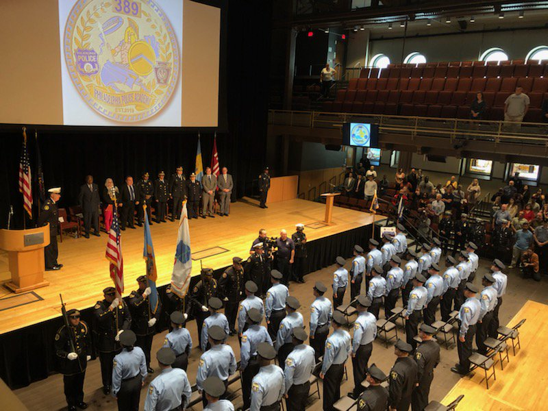Congratulations to today's @PhillyPolice Academy graduates who dedicated their class to memory of fallen hero P/O John Pawlowski. Class 389 remember his sacrifice every time you put on that badge, you represent his legacy. Enjoy the weekend, Mon your service to our city begins! <br>http://pic.twitter.com/oFxZoYBPxQ
