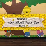 Image for the Tweet beginning: The Peace Day celebration at