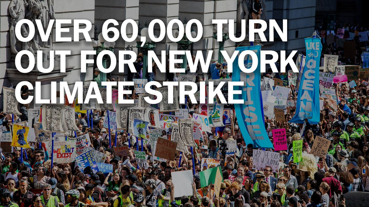 More than 60,000 turn out for New York's youth-led
