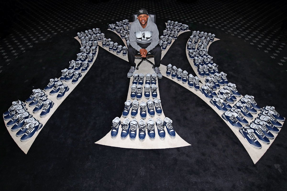 From me, to you my @Yankees brothers! A special @Jumpman23 delivery for the squad.