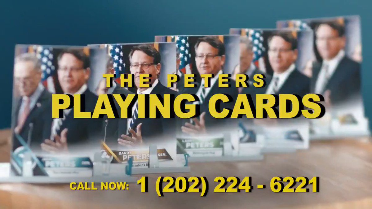 Never heard of @SenJerryPeters? Neither have his constituents! Find out more with these playing cards #MISen #MRLC33