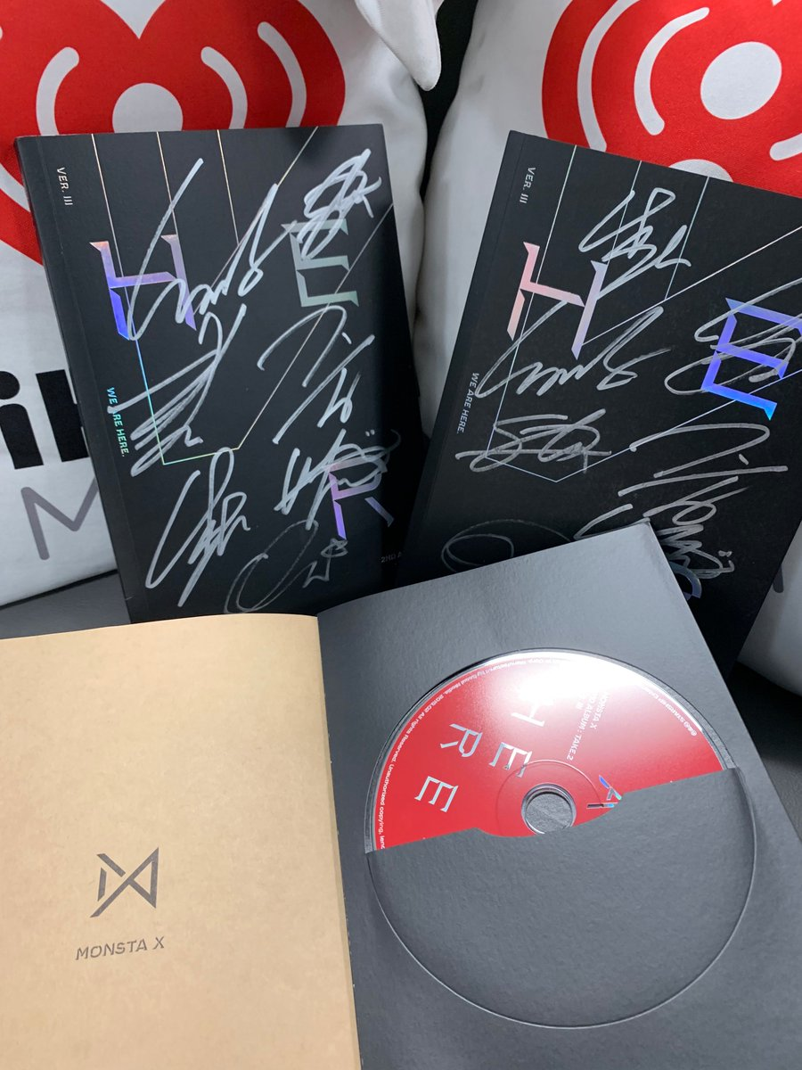 Win A FREE SIGNED copy of @OfficialMonstaX's #WeAreHere !   Tweet #iHeartFestival2019 + #MonstaXEntry PLUS tag a BFF you'd listen to this with for your chance to win!   Are you excited to watch them perform this weekend at the @iHeartRadio music festival? #MonstaX #Monbebe<br>http://pic.twitter.com/2AysOGdQdC
