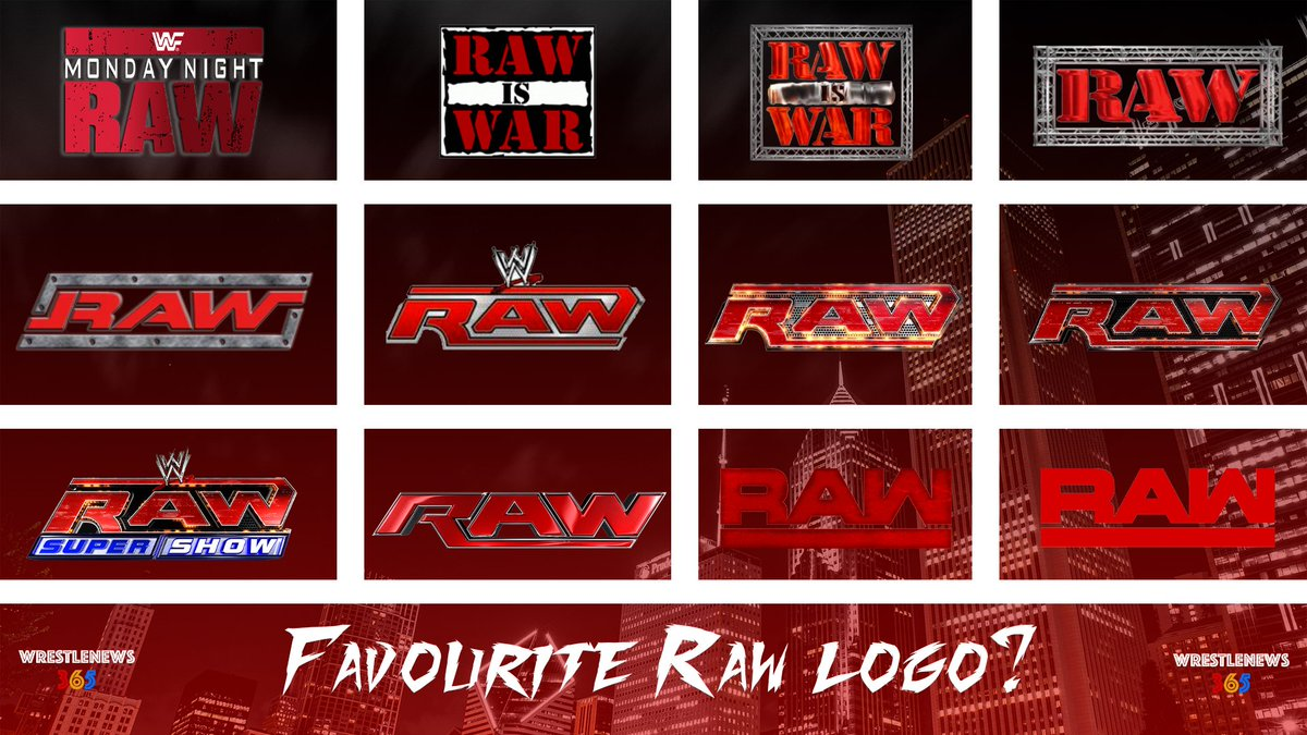 """It was announced that the September 30 edition of Raw will be a """"season premiere"""" episode featuring an appearance from Brock Lesnar.  With the upcoming draft sure to bring changes to the red brand, which is your favourite Raw logo throughout the years?  #WWE #Raw #SDLive #WWENXT"""