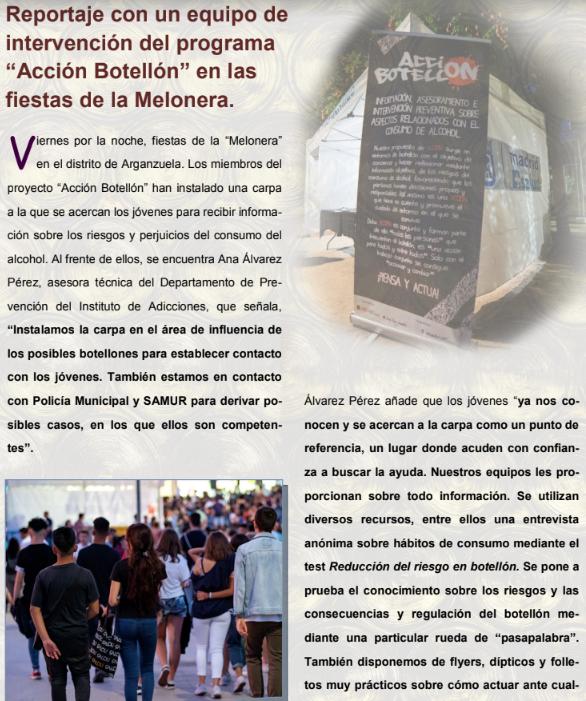 test Twitter Media - 🍸El pasado fin de semana #AcciónBotellón @madridsalud @ServicioPAD salió en Revista Policía local de Madrid  En el transcurso de tiempo comprendido entre septiembre y diciembre 2018 fueron impuestas 9.051 denuncias por consumo de alcohol en vía pública  https://t.co/I0kSlSk9Rz https://t.co/ai85WkDjrJ