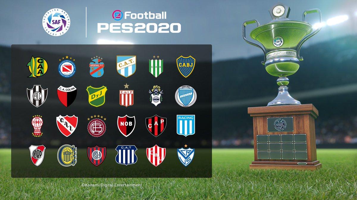 Woo! 🇦🇷 The Superliga Argentina is Licensed in #eFootballPES2020! #PlayingIsBelieving