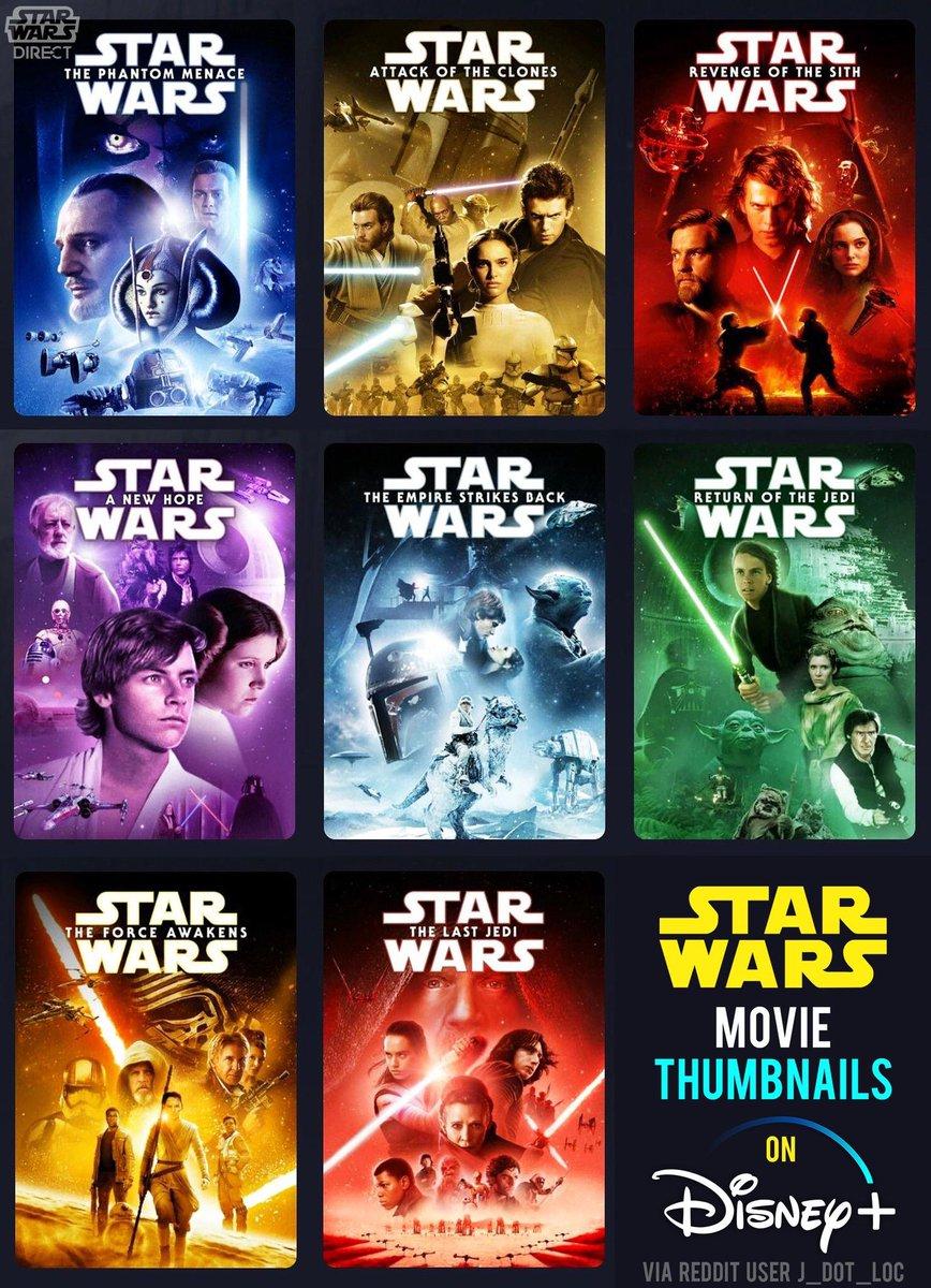 Here's a roundup of the #StarWars thumbnails for Disney+ from reddit user r/j_dot_loc. #DisneyPlus   (via @starwars_direct)