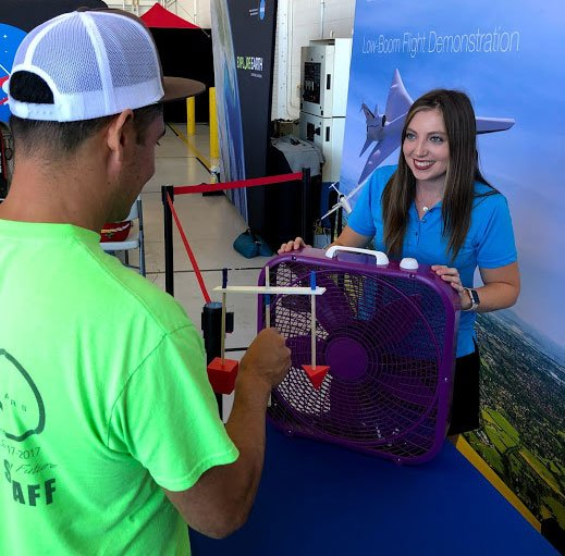 Want to learn how to create and fly your own X-Planes using common classroom materials and a box fan? ✈ Stop by Hangar 56 at the @OceanaAirShow and observe the Fan-tastic Forces demonstration. #NASOceanaAirShow #NASASTEM