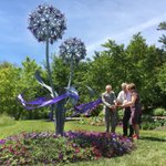 Image for the Tweet beginning: International Blacksmith Jenny Pickford Sculpture