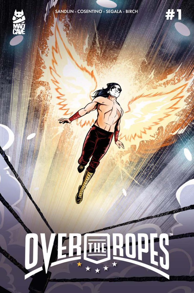 Check out the hot as FIRE cover of #Phoenix for #OvertheRopes #1 from @MadCaveStudios! Great work, @AntonelloCosen1! Glad to #write with a great team! @GioOrozco_ @BrianLHawkins @Cfernandez325 @MarkLondonMCS @THR for #LocalComicShop Day releases: bit.ly/2mnJoXO