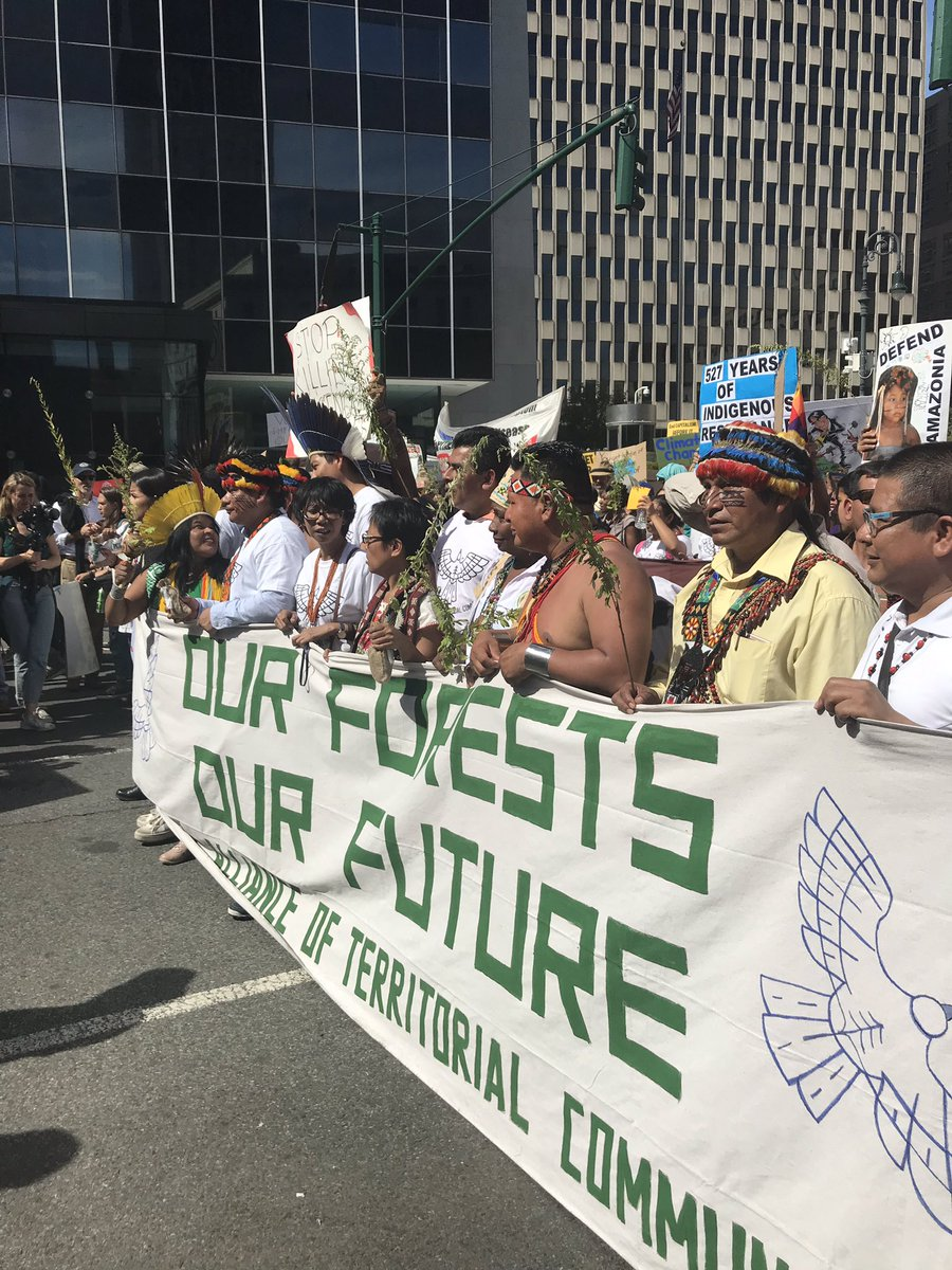 The march is starting now for the Global #ClimateStrike in NYC! Indigenous voices are just where they belong — out front!   #FridaysForFuture #FridayMotivation <br>http://pic.twitter.com/OwBqHNR5ax