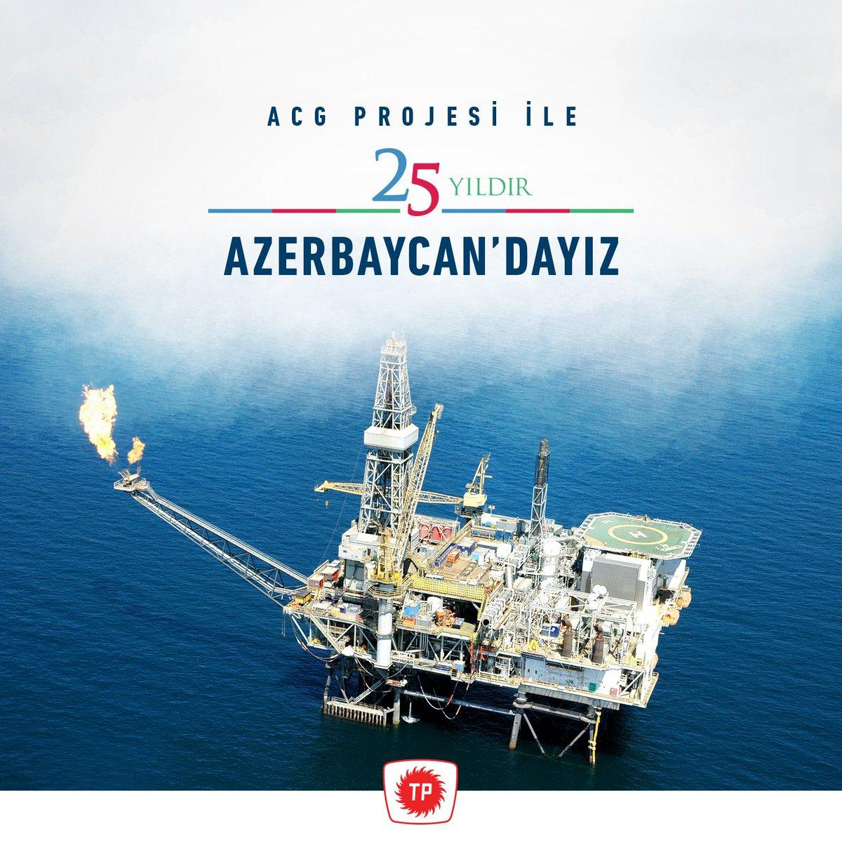 20 Eylül 1994 yılında imzalanan Azeri-Çıralı-Güneşli (ACG) projesi ile 25 yıldır Azerbaycan'dayız! Ülkemizin enerji arz güvenliğine katkı sunmak amacıyla yurt içinde olduğu gibi yurt dışında da faaliyetlerimize devam ediyoruz. 🇹🇷 🇦🇿  #TürkiyePetrolleri #TPAO  #Türkiye #Azerbaycan