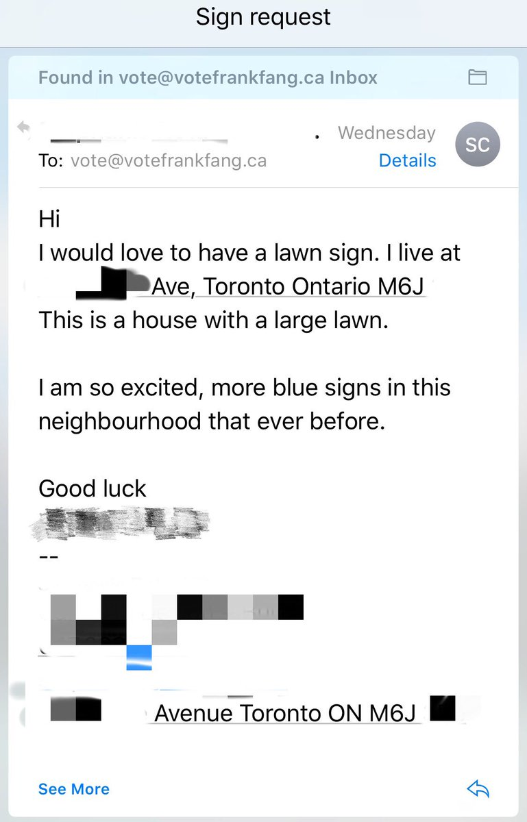 Lawn sign request from our supporters! We are also excited! Busy installing signs. #teamfrankfang #Spafy @cpcvolunteer @CPC_HQ<br>http://pic.twitter.com/SxXfKf2SX5