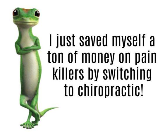 "Say ""Bye!"" to painkillers. #chiropractic #backpain #neckpain #relief #healing"