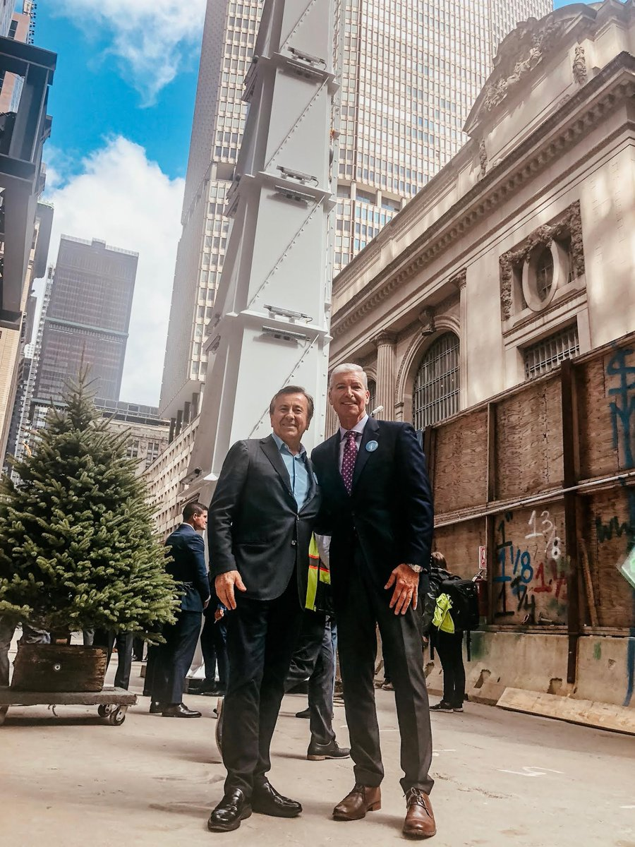 Our President/CEO @FredCerullo and Chef @DanielBoulud at the topping out ceremony for @One_Vanderbilt. Everyones looking forward to Chef Bouluds eateries in one of the most anticipated new buildings in #MidtownEast.
