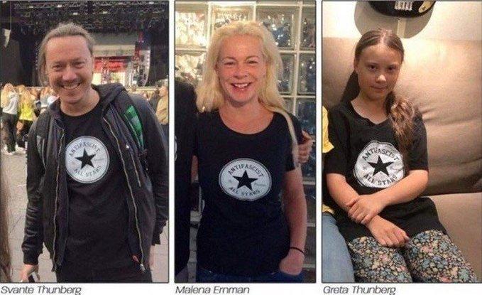 """Napoléon on Twitter: """"Voici les #Thunberg, fille, père et mère ..."""