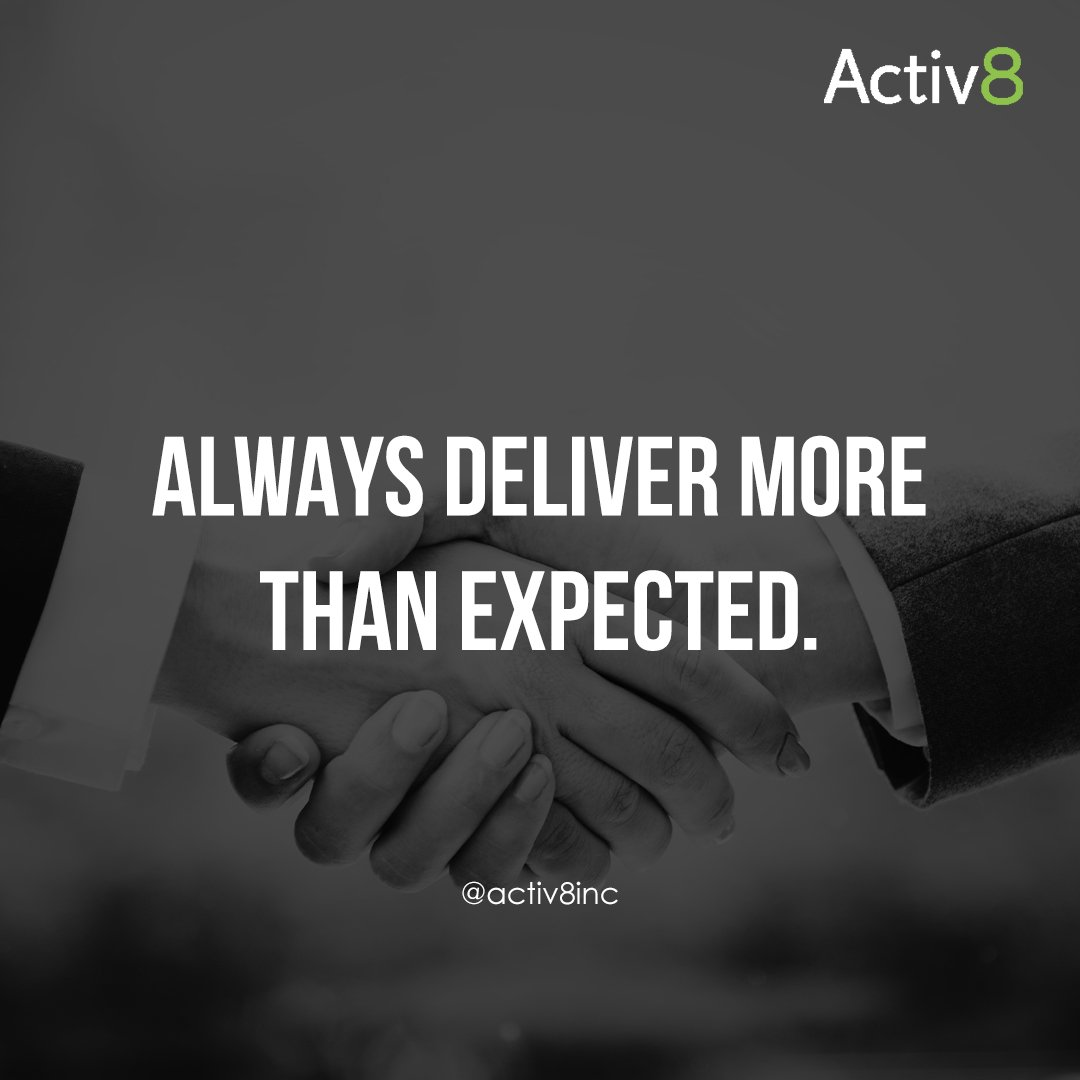 """""""Always deliver more than expected."""" — Larry Page  #inspiration #quotes #activ8marketing #activ8training"""