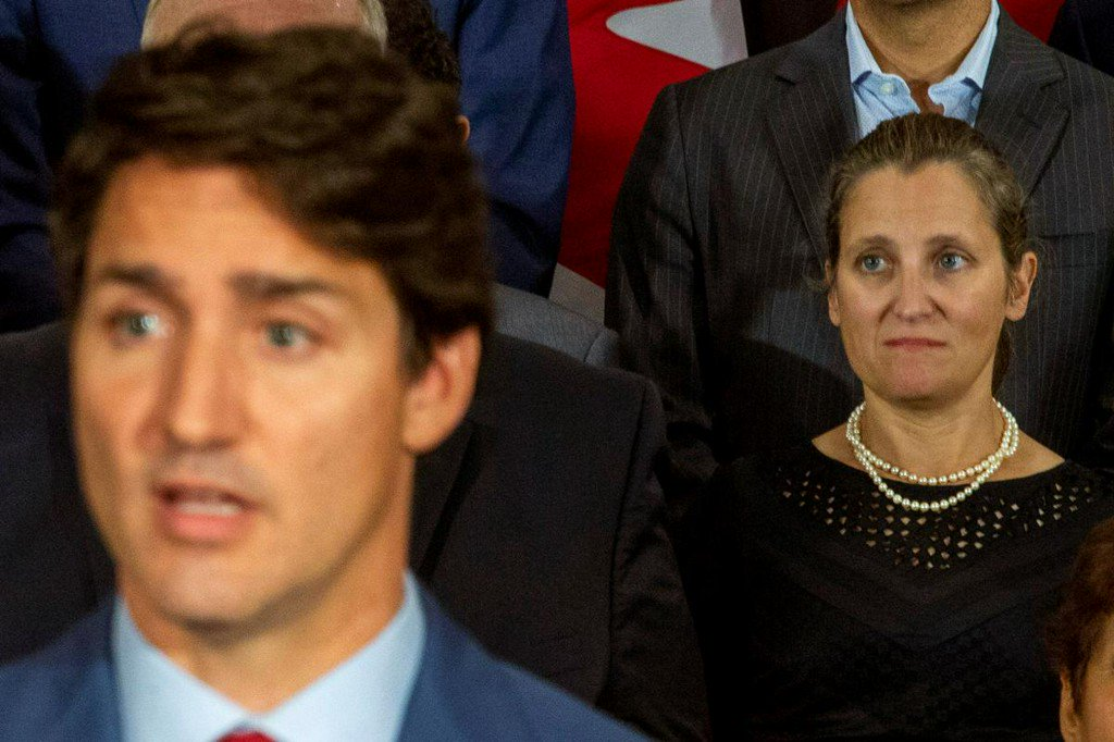 Canada Foreign Minister Freeland 'troubled, disappointed' by Trudeau's blackface images