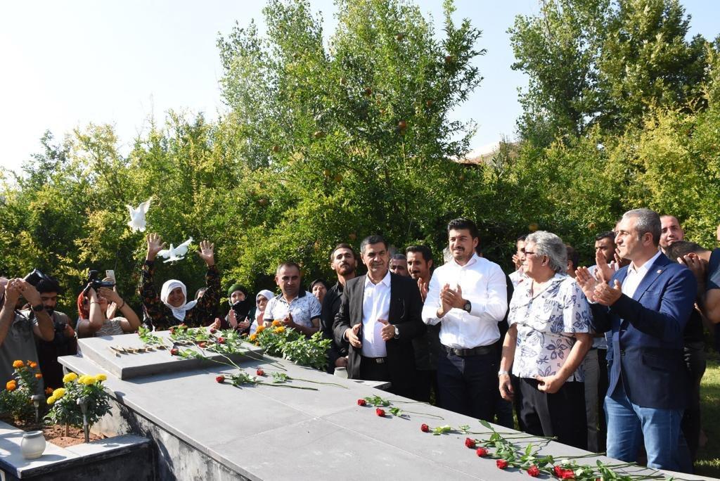 27 yıl önce Diyarbakır'da öldürülen Kürt yazar ve aydını Musa Anter'i, Nusaybin de mezarı başında andık.  Kardeş olduğumuzu anladığımız gün, insan olacağız. İnsanlığın barış içinde ve kardeşce yaşayabileceği bir Türkiye uzak değil.  #türkiye #diyarbakır #nusaybin #chp  #MusaAnter