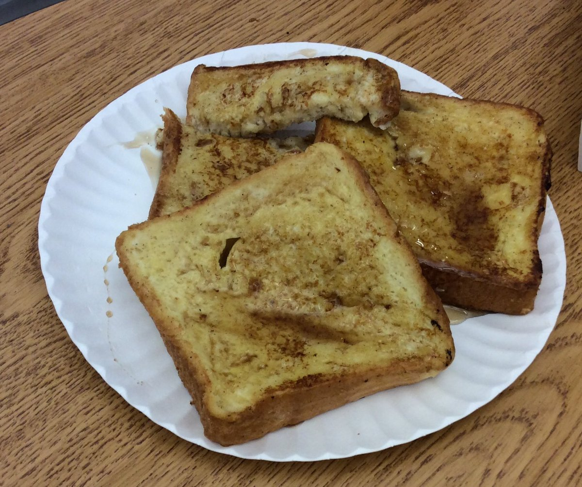 For <a target='_blank' href='http://twitter.com/endy_505'>@endy_505</a>, whose group made beautiful French toast in lab today. <a target='_blank' href='https://t.co/7bKCBOqQfC'>https://t.co/7bKCBOqQfC</a>