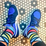 Image for the Tweet beginning: #SocksOutFriday is @PUMA RS1 👟