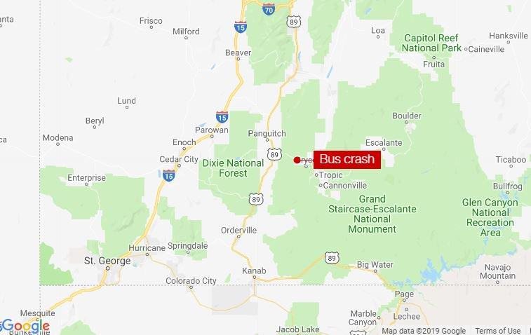 At least four people were killed when a bus was involved in a crash near Utah's Bryce Canyon National Park, officials say https://cnn.it/31FmsmM