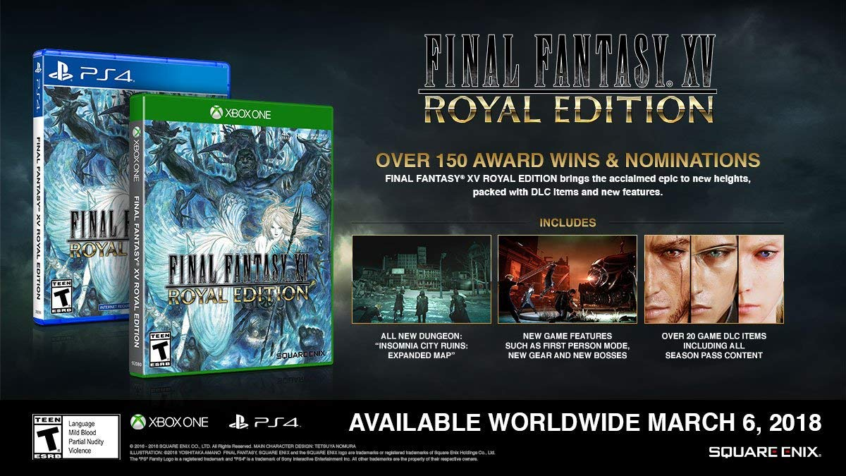 Final Fantasy XV Royal Edition (PS4) is $19.93 on Amazon right now: amzn.to/30eaYKg Xbox One version is $18: amzn.to/30gPz3d