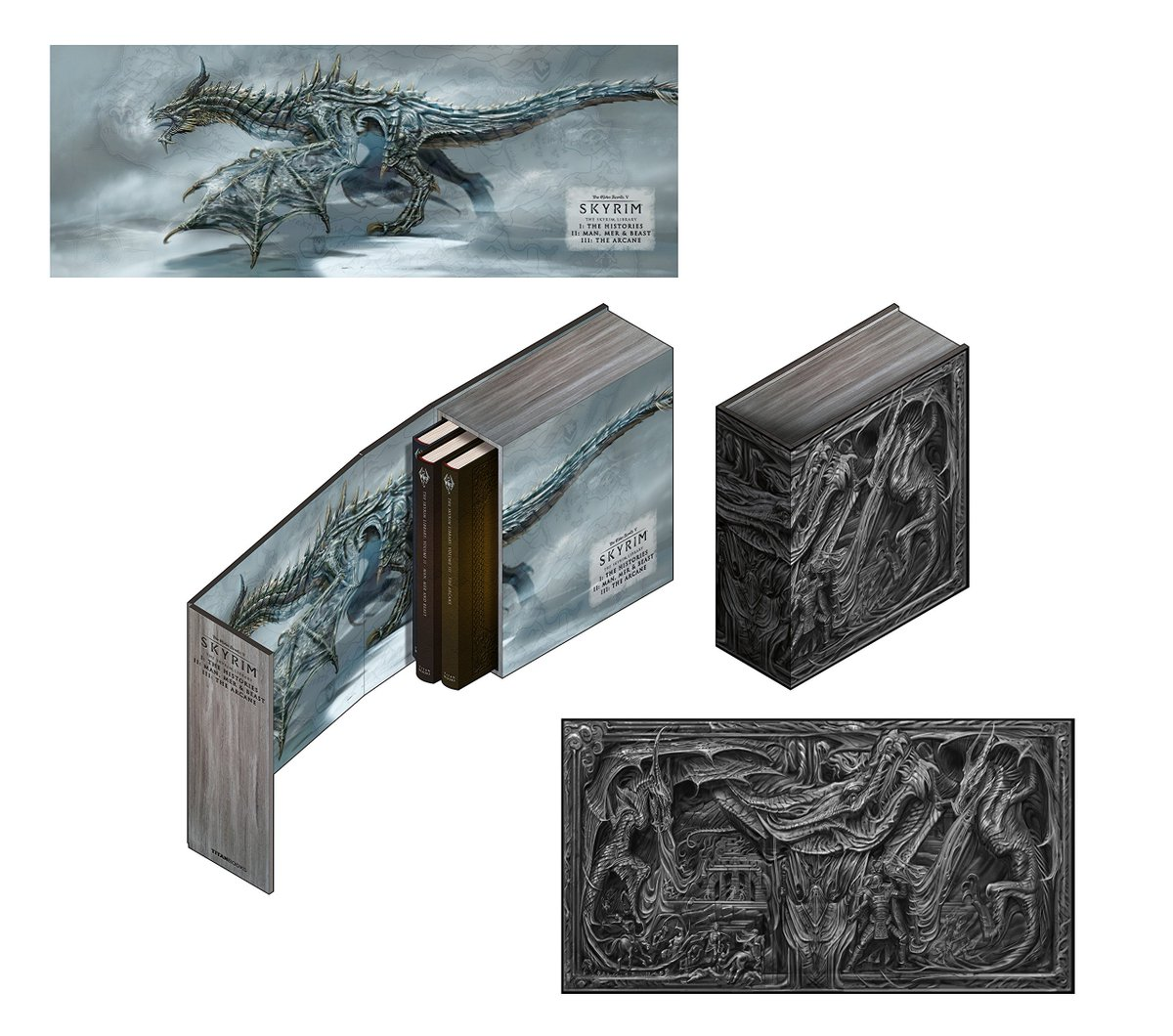 The Skyrim Library Volume 1-3 box set is almost half off on Amazon right now. A box set with 3 books collecting the in-game writings from Skyrim: amzn.to/2Vcg3Np