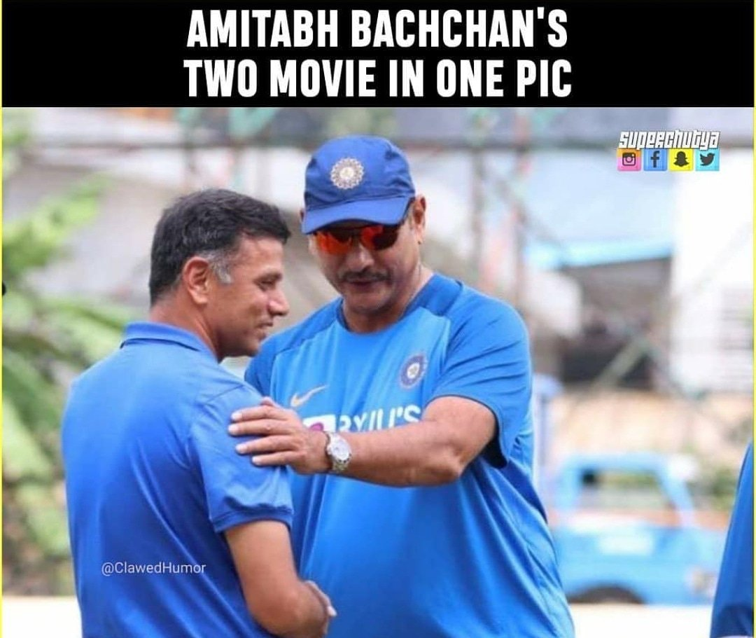 Comment down below if you can guess the name of movies! #RaviShastri #RahulDravid #indiavssa #INDvSA