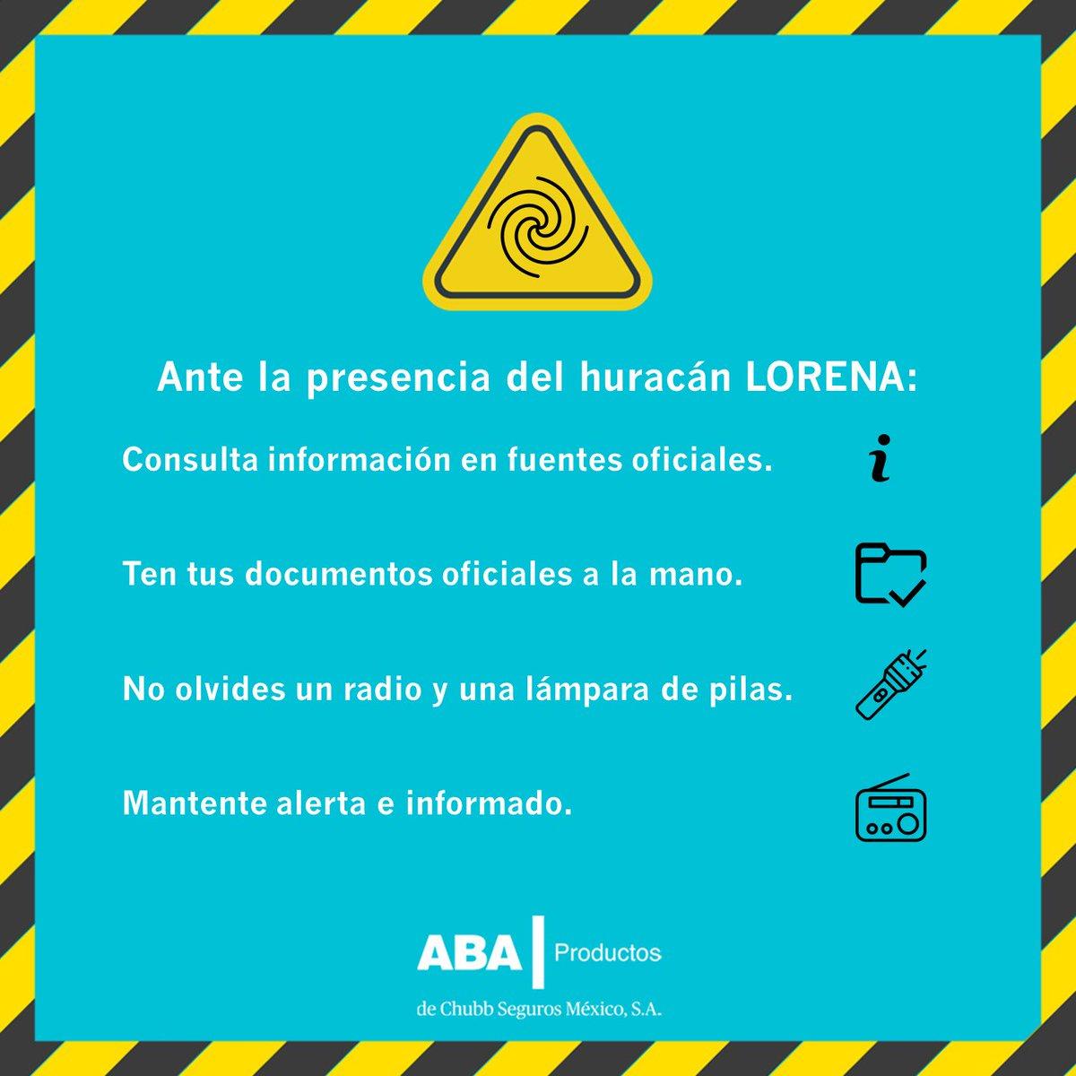 Ante la cercanía del huracán #Lorena, presta mucha atención. #ABAContigo https://t.co/R6nc5wsArO