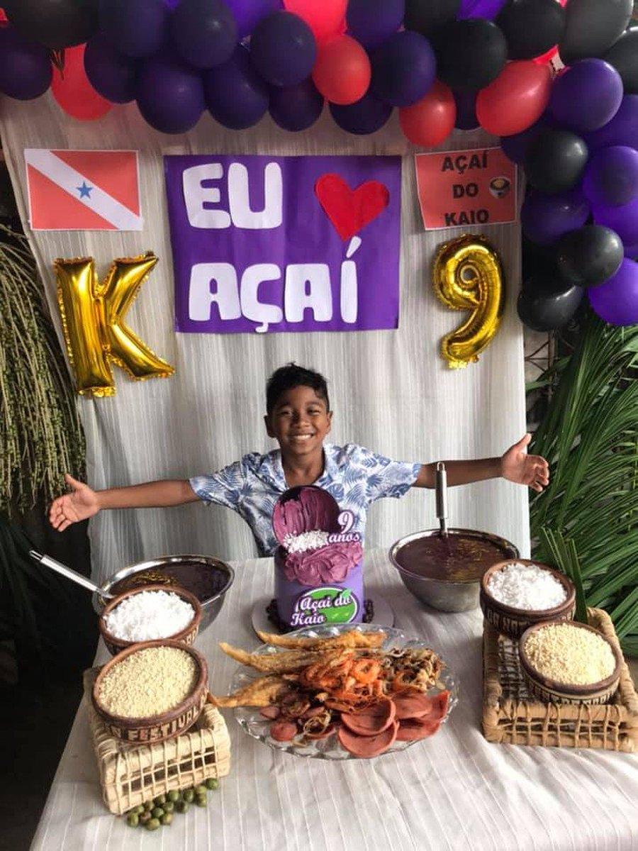 Criança pede açaí e comidas típicas do Pará como tema de festa de aniversário https://glo.bo/308CEQC #G1