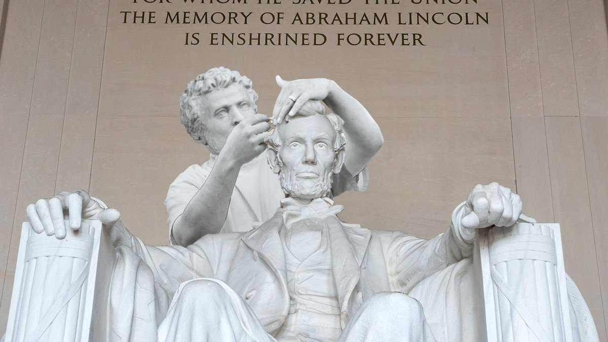 Completing The Tribute: The U.S. Government Has Finally Finished Constructing The 30-Foot Barber That's Cutting Lincoln's Hair In The Lincoln Memorial http://clckhl.co/3zvk76t