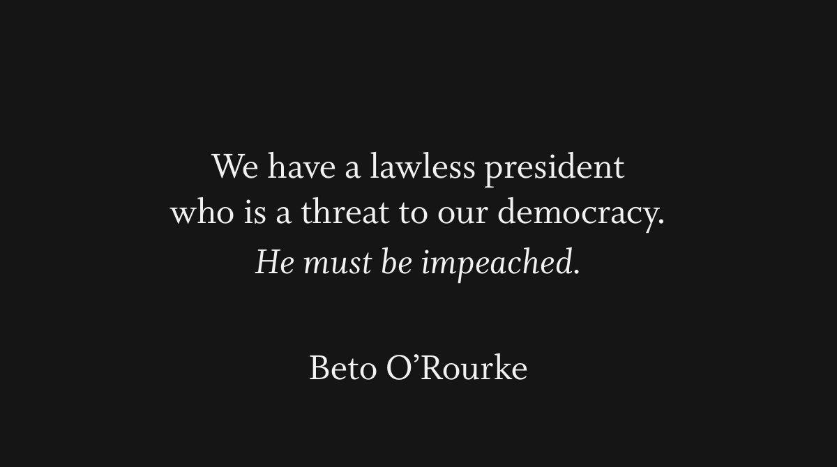 #Beto2020 #BetoForAmerica #WhistleblowerGate #ukrainegate