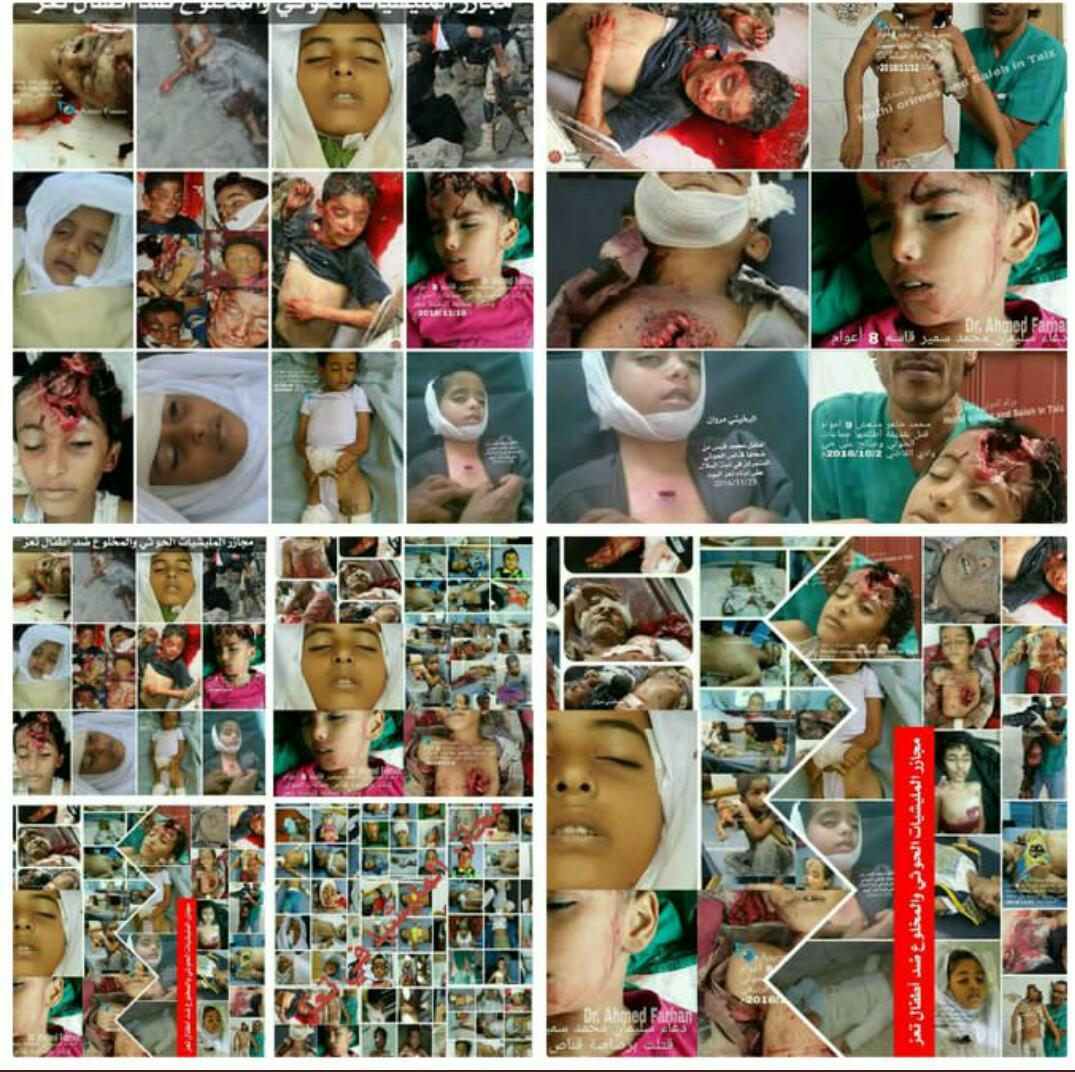 What you see in the attached image 👇👇 is one of the #Houthi militia performance for #Yemen children, women and elderly people.#21_September_Yemen_catastrophe #نكبه_اليمن_21سبتمبر