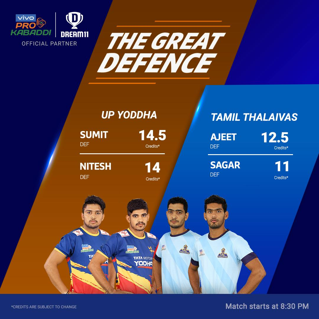 The game between @tamilthalaivas & @UpYoddha is always a close one. Will this match be as gripping as their 1st encounter earlier this season? Click here to make your teams for #UPvCHE - http://d11.co.in/Pro-Kabaddi@ProKabaddi