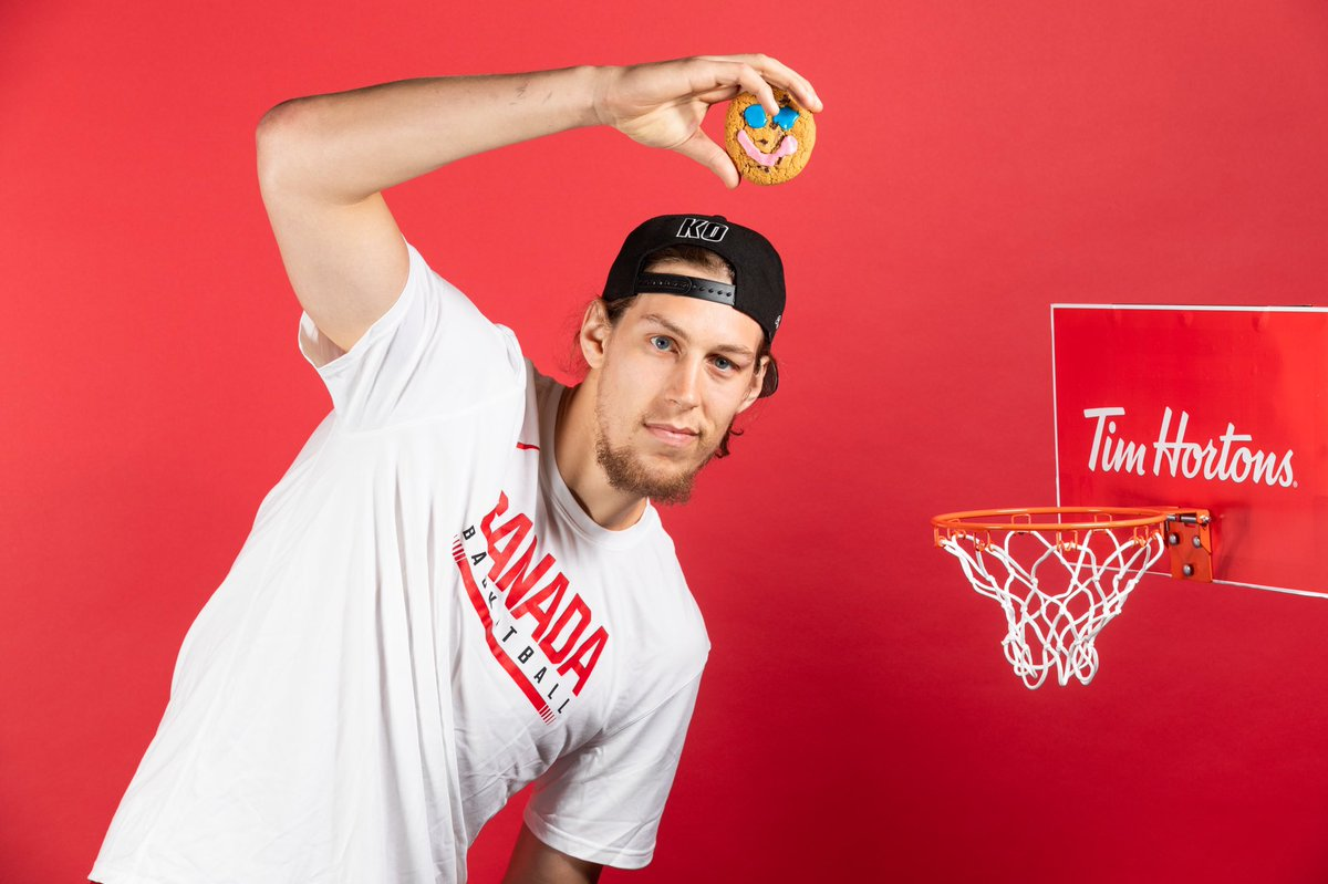 #SmileCookie week continues! Grab one at @timhortons before Sept. 22 and all proceeds will go to a local charity. Help make a lasting difference in your community with Canada Basketball! #WeAreTeamCanada #CanadaBasketball