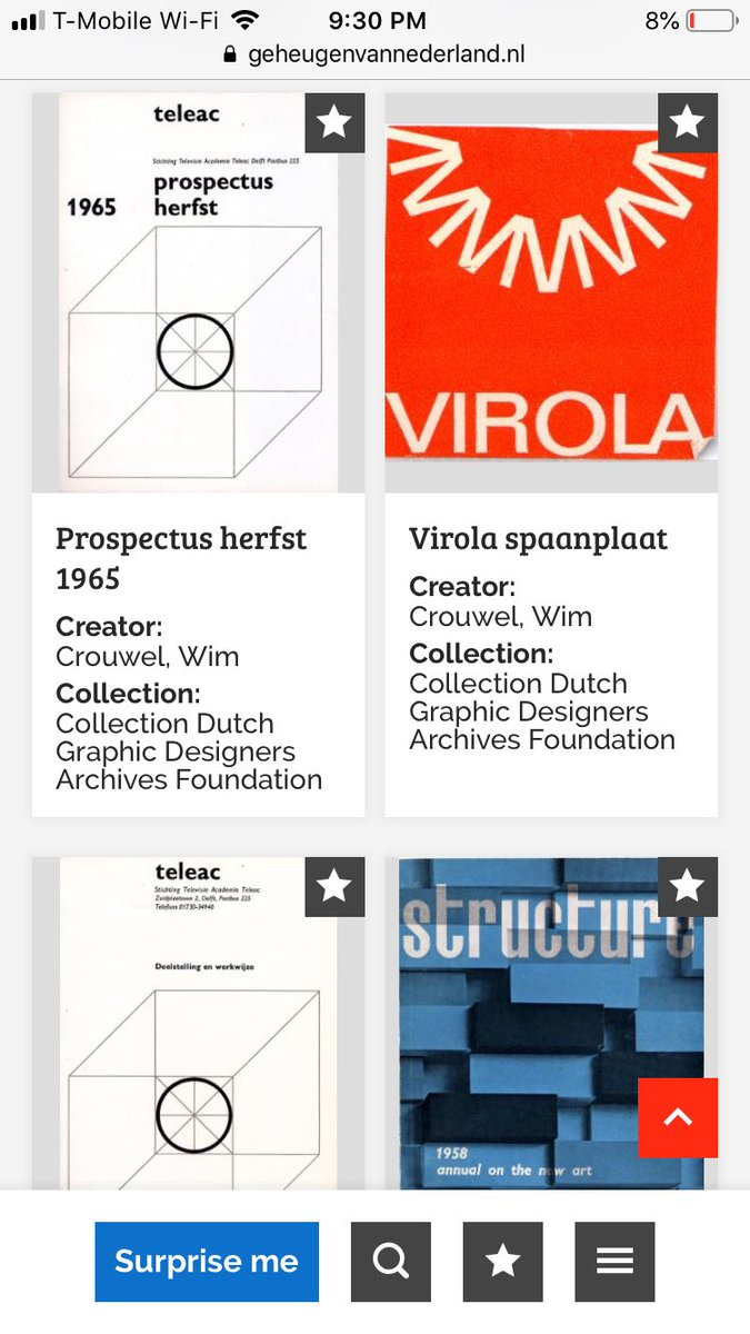 Searched wim crouwel in this database of Dutch ephemera and WHOA geheugenvannederland.nl/en/geheugen/re…