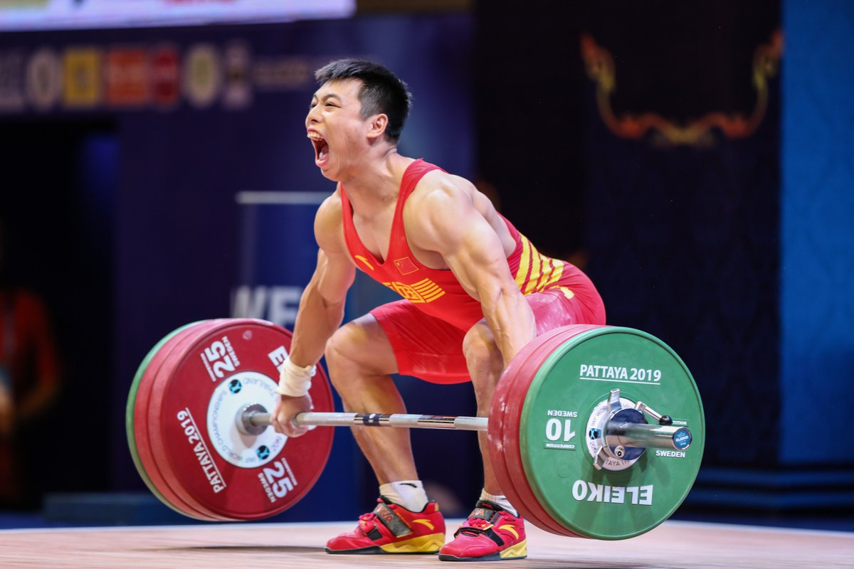 Chinese weightlifters dominate men's 67kg and women's 55kg categories at the Worlds http://xhne.ws/VAVdH
