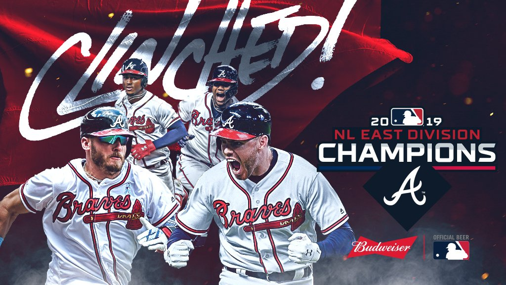 Back-to-back.The @Braves reign supreme in the NL East. #CLINCHED