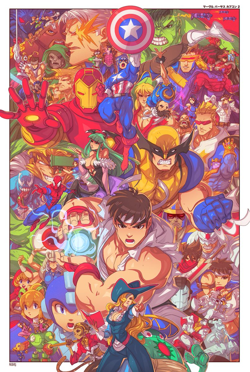 Here's my finished MvC2 piece. It'll be available at this year's NYCC #edwinhuang #marvelvscapcom #nycc<br>http://pic.twitter.com/d4ZLjqzDhR