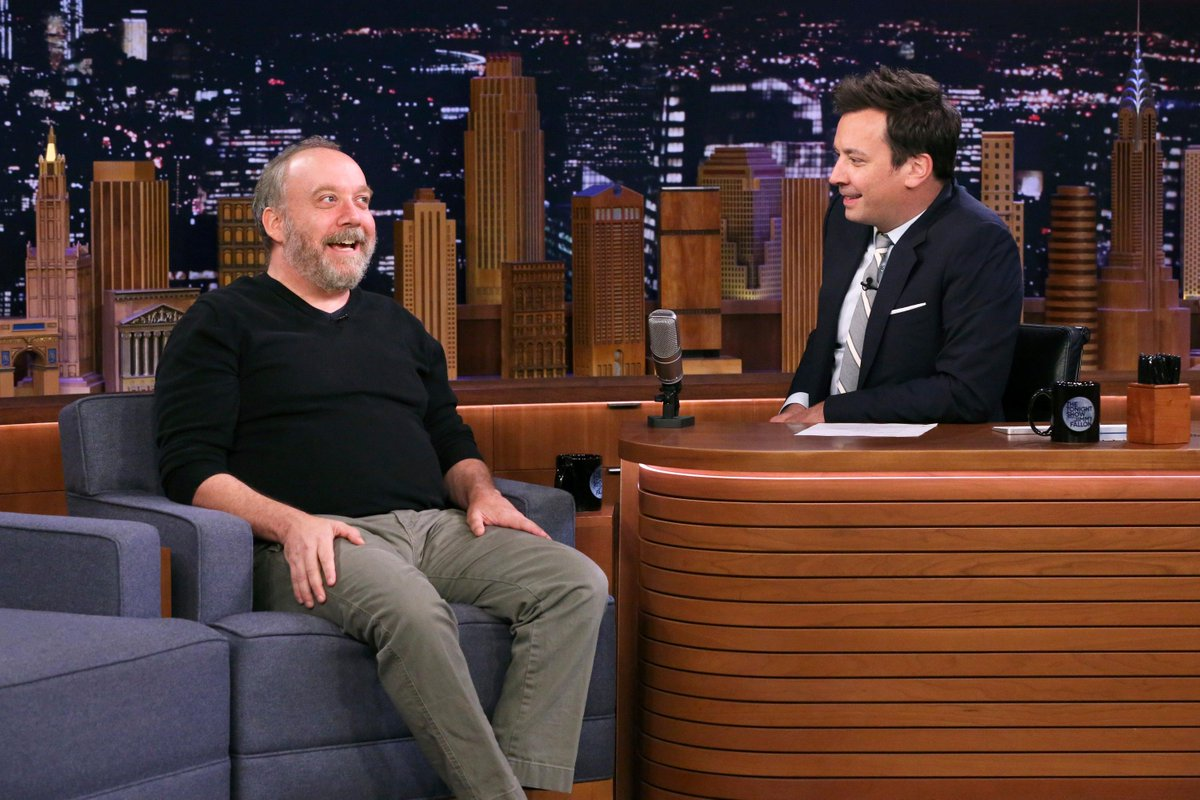 #Lodge49 Executive Producer Paul Giamatti is on @fallontonight. Who is tuning in to find out more about the reconciliation of opposites? (Photo credit: Andrew Lipovsky/NBC)