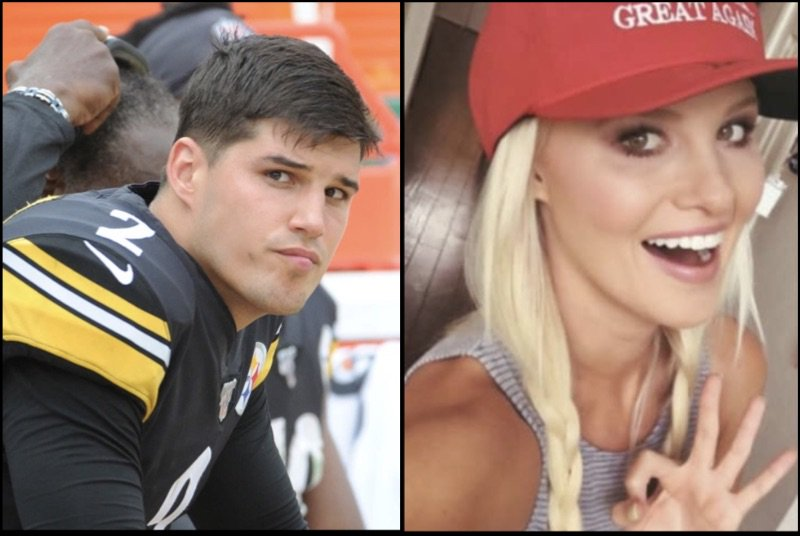 Steelers Mason Rudolph Supports Anti-Colin Kaepernick & Jemele Hill Posts; Rudolph is Big Fan of Tomi Lahren, MAGA & Trump (Tweets-IG)  http:// bit.ly/2Ii2rLr     <br>http://pic.twitter.com/W73lWJTFDE