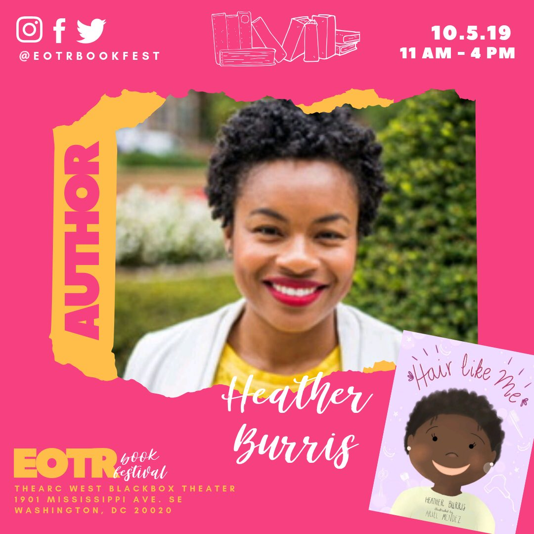 DC resident and author, Heather Burris, will join us @eotrbookfest!! Get in line to have your book signed! #blerdcon #dcwriters #dcevents #dmvevents #blackauthor #bookclubs #eotr #eotrbookfest2019 #dccool @DCPS_Community @ward8edcouncil @DC_Edvocate @SBunnWard8<br>http://pic.twitter.com/3k3uYy25T2