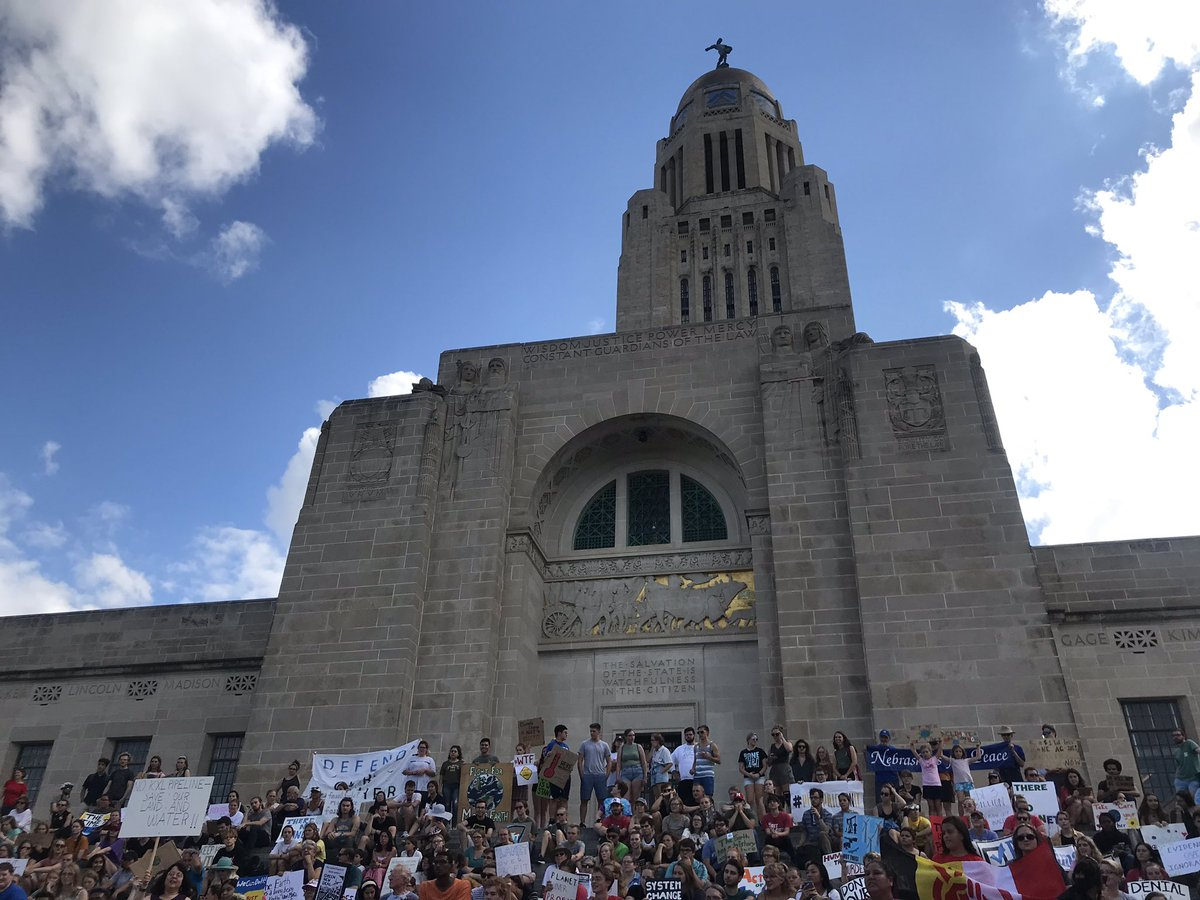 Nebraskans showed up in force for the #ClimateStrike in Lincoln, Nebraska today   Thank you @SustainUNL for organizing. Keep it going! <br>http://pic.twitter.com/CF2Nv0LT7h