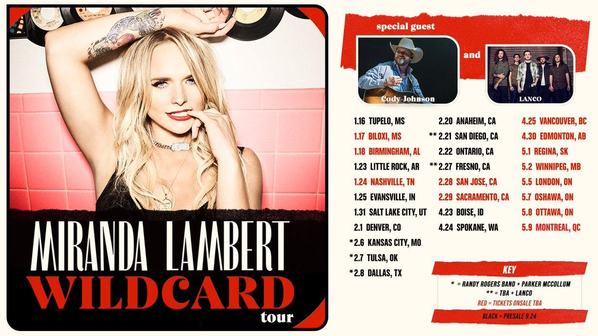 Miranda Lambert Tour 2020.Miranda Lambert On Twitter Wildcard Tour 2020 We Re