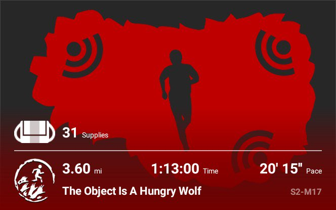I'm going to start posting more fitness progress on my Twitter because I want a place to post these for myself. It's been about two weeks and a lot of work hours, but @mjoynt429 and myself still kept pretty close to 3 mph after rounding for lights. #ZombiesRun #ZombiesWalk pic.twitter.com/ke6fmrIgPh