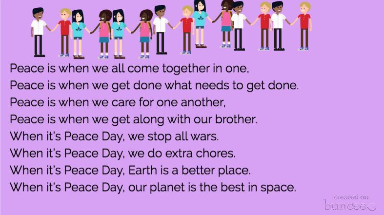 Hey, @Buncee, check out Sarah's #PeaceDay #Buncee #poem. Love it! #edchat #educhat #edtech